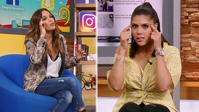 Karla compartió con Francisca sus secretos de belleza para tener unas cejas perfectas