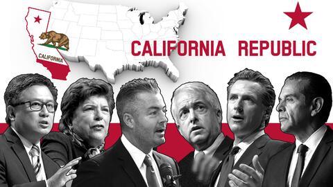 Entre los candidatos a la gobernación de California hay tres dem&...
