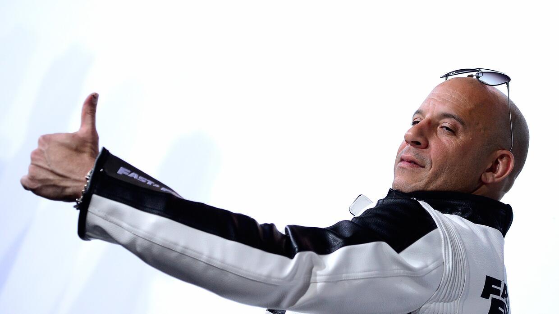 HOLLYWOOD, CA - APRIL 01: Actor Vin Dieselarrives at the Premiere Of Uni...