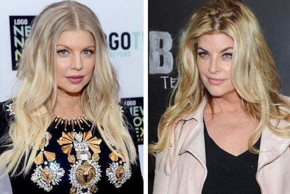 Kirstie Alley podría ser la madre de Fergie... bueno, no le lleva tantos...