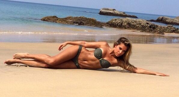La bella modelo holandesa y ex novia de Van der Vaart fue vista con el f...