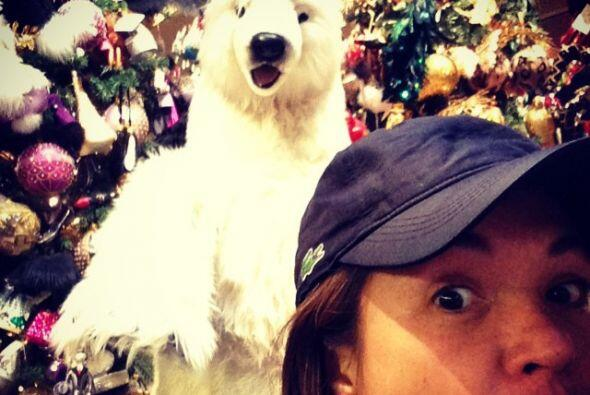 Yolanda Andrade se mostró un poco espantada con un oso polar a su...