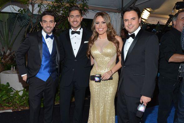 Lidsay y Berry acompañados de Edgar Martínez y Rodolfo Landeros.
