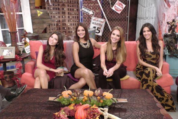 Pura chica bella en Despierta América. Ana, Zuleyka, Ximena y Maity sonr...