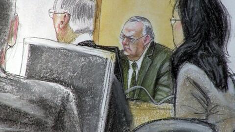 Joe Arpaio durante el juicio por su desacato a la corte al realizar oper...