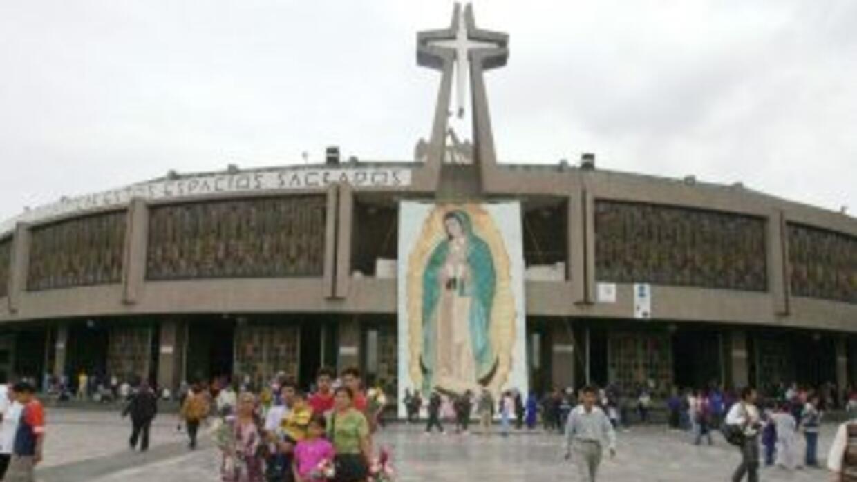 Los peregrinos se dirigían a la Basílica de Nuestra Señora de Guadalupe...