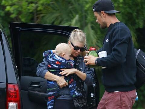 Un día muy relajado y en familia disfrutaron Fergie, Josh y su pe...
