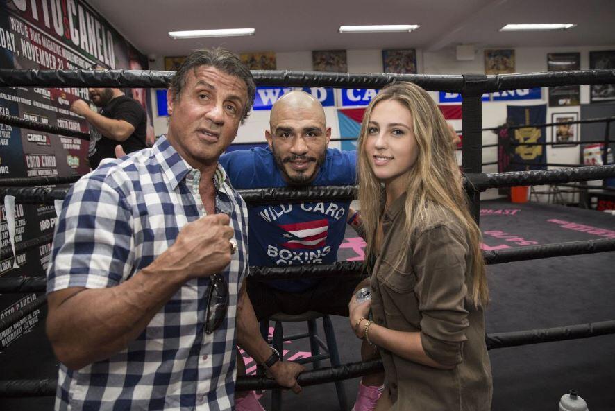 El actor Sylvester Stallone, quien promociona su nueva secuela de la pel...