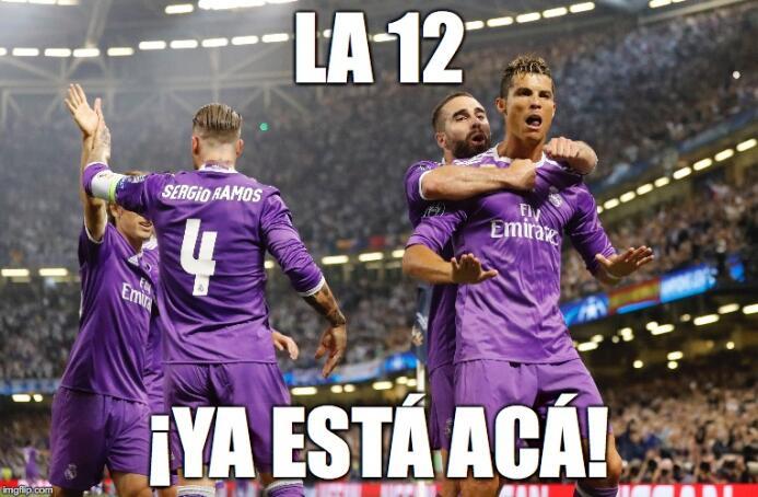 Los memes aprovecharon la '12' para darle duro a los anti-madridistas 1q...