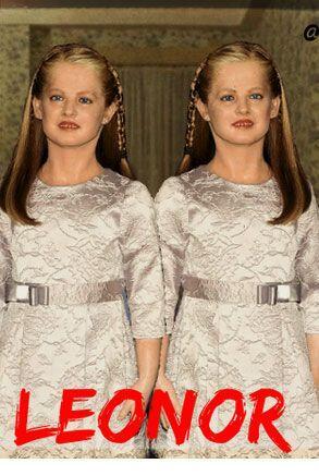 """""""El muñeco de cera de la infanta Leonor es tan gemelas de """"El resplandor..."""