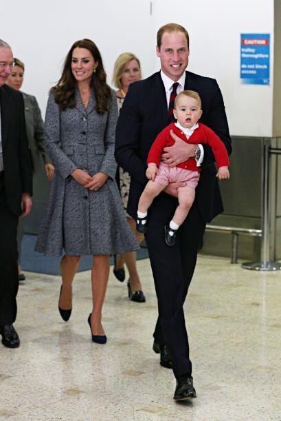 En ésta foto podemos comprobar la herencia del príncipe William al peque...