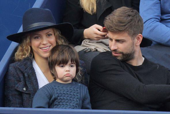 En esta ocasión Shakira, Gerard y Milan fueron al tenis.