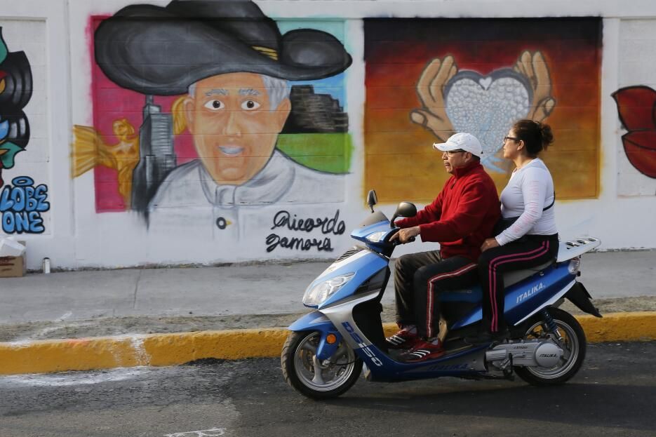 Los murales del papa Francisco