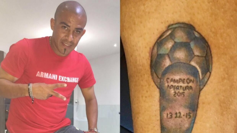 Arévalo se tatuó el trofeo que ganó con Tigres
