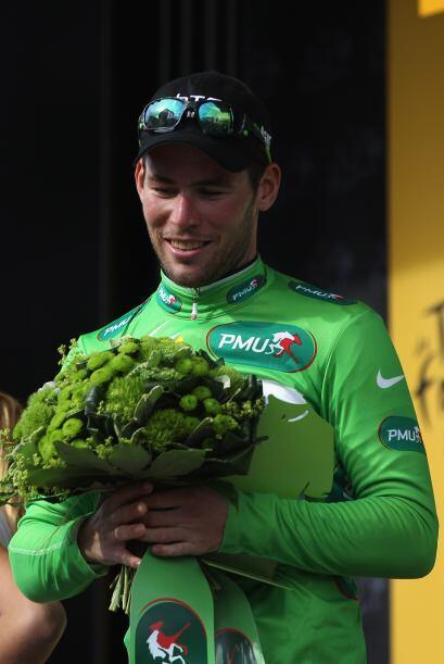 El ganador del maillot verde fue Mark Cavendish, quien también ha tenido...