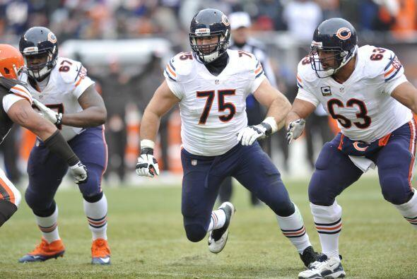 Kyle Long, guardia ofensivo de los Chicago Bears (AP-NFL).