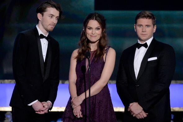 Keira Knightley, Matthew Beard y Allen Leech.