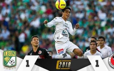 León vs. Tijuana en vivo Clausura 2018