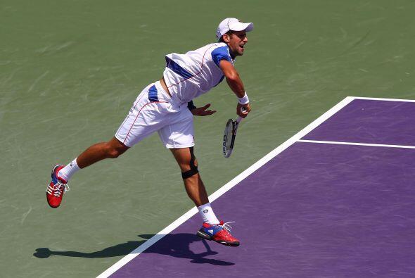 Djokovic, quien se apoderó del segundo lugar del ránking, extendió su ca...