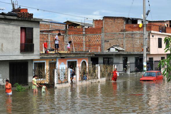 Las lluvias han sido tan intensas que según el director del Instituto de...