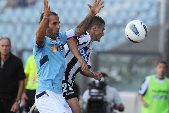 Aunque fue de forma compartida, pues antes el Udinese también se puso a...