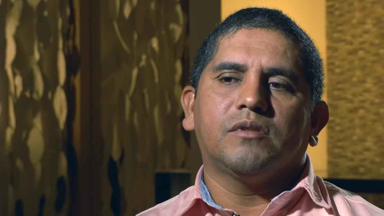 Excapitán Santos Rodríguez Orellana en entrevista con Univision.