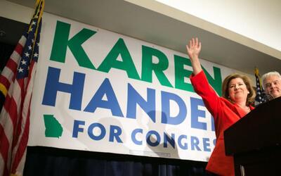 """Karen Handel: """"En estos EEUU, nadie debería sentir su vida amenazada por..."""