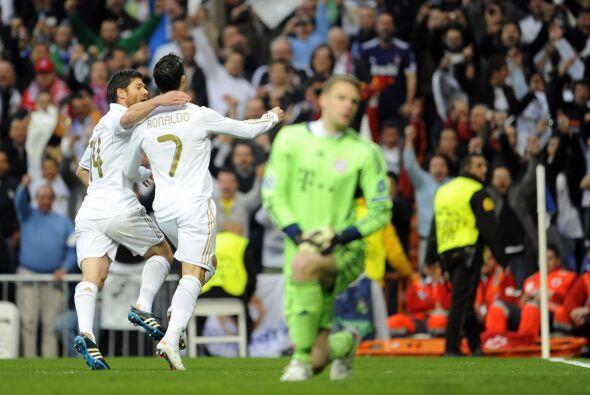 El portugués tocó suave, de derecha, y marcó su 'doblete'.