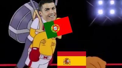 Los memes tuvieron su partidazo con el empate de Portugal y España