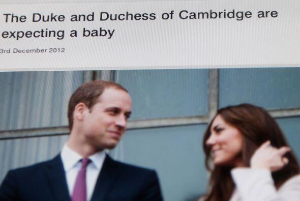 3 de diciembre de 2012  El Palacio de St.James anuncia el embarazo de la...