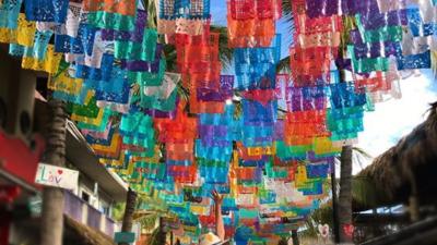 Karla Martínez dio saltos de felicidad en sus vacaciones familiares por México (fotos)