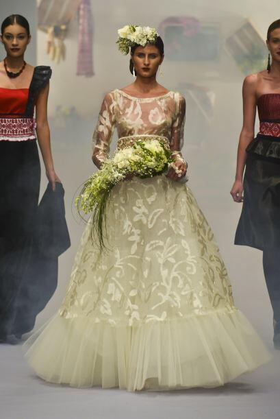 Los diseños de Lydia Lavin están llenos de detalles.