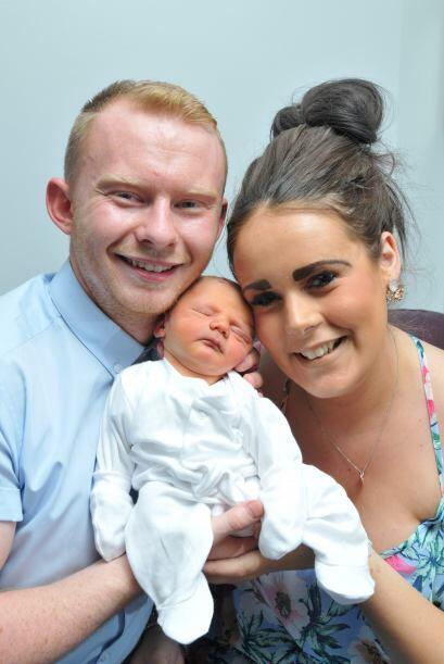 Afortunadamente todo salió bien y el bebé Koby llegó sano y salvo al mun...