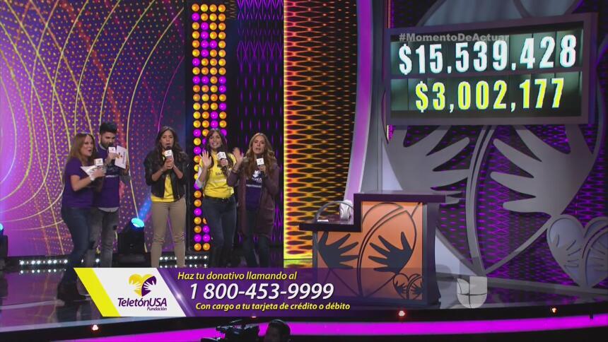 ¡A las 4 pm (ET) pudimos superar los 3 millones de dólares!