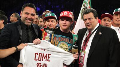 Saúl 'Canelo' Alvarez lugo de su triunfo ante Amir Khan.