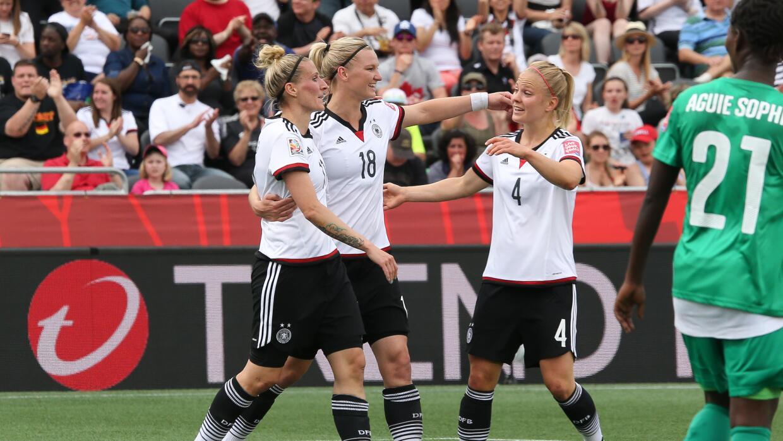 La escuadra germana no tuvo piedad de su rival y lo goleó por 10-0.