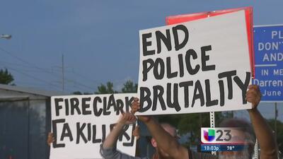 Protesta contra policía de Grapevine