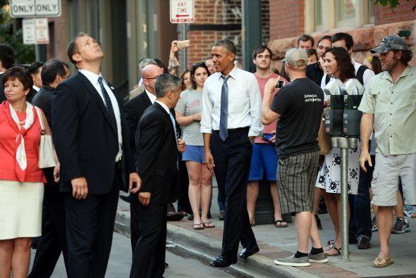 El presidente fue bien recibido en Colorado y él se mostró...