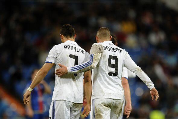 Benzema y 'CR7' estaba mostrándose como una dupla letal.