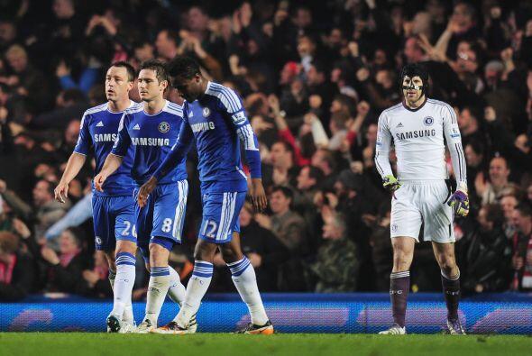 El rostro del plantel de Chelsea lo decía todo, decepción absoluta.