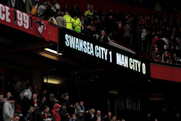 Se podía ver el resultado final en las pantallas del estadio, un gran lo...