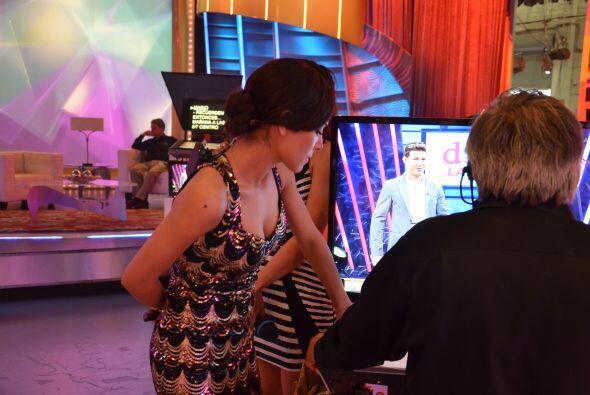 Alejandra no quería perderse ni un segundo del programa.