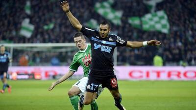 Marsella apenas logró sacar el empate ante el Saint-Etienne.