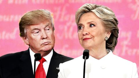 Donald Trump y Hillary Clinton.