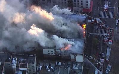 El incendio se produjo en el área de Hamiltin Heights, en el alto...