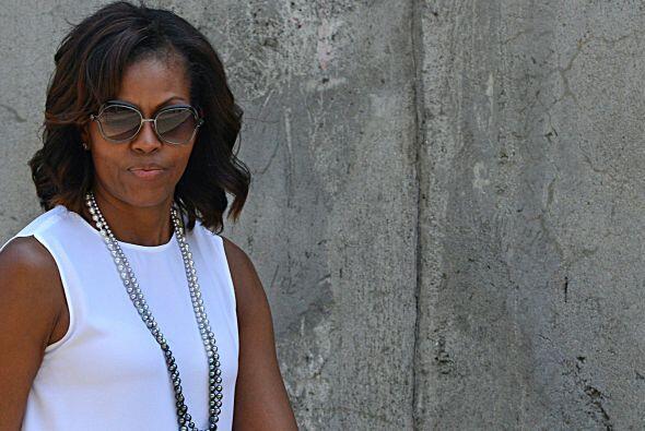 La esposa del presidente estadounidense, Michelle Obama, visitó e...