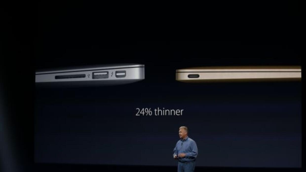 La nueva MacBook es un 24% más delgada que la MacBook Air.