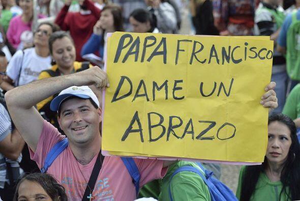 El Sumo Pontífice regresó a Río de Janeiro tras la visita que realizó al...