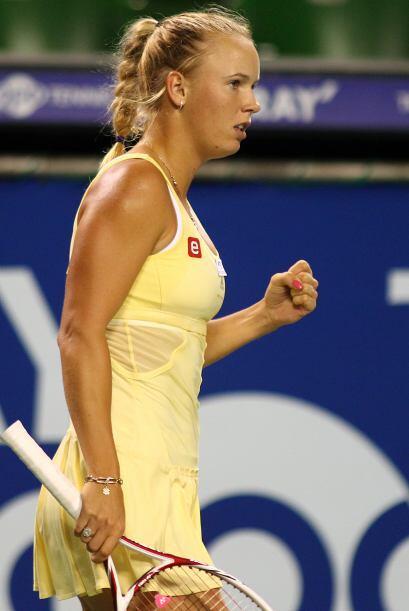 La danesa Caroline Wozniacki, número uno mundial venció en...