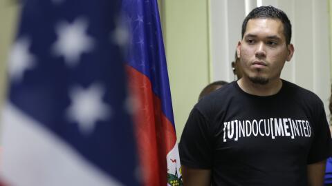 Julio Calderón, de 28 años, indocumentado procedente de Ho...